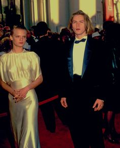style crush | river phoenix (gone too soon) and martha plimpton (in stunning silk dress) at the 1989 oscars