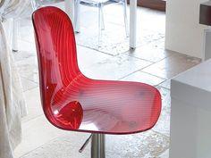Sgabello alto girevole in plastica ad altezza regolabile PLAYA-SGQ Collezione Sgabelli collection by DOMITALIA | design Fabrizio Batoni