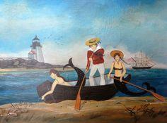 A Mermaid's Adventure! Mermaid Song, Mermaid Art, Primitive Painting, Seaside Art, Mermaid Photos, Underwater Creatures, Merfolk, Ship Art, Vintage Pictures