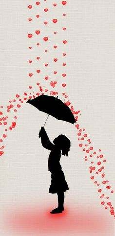 This makes me think of Banksy Banksy Graffiti, Bansky, Umbrella Art, Under My Umbrella, I Love Heart, Silhouettes, Street Art, Illustration Art, Love Heart Illustration