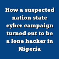 Nation State, Cyber