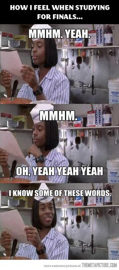 How I feel when studying for finals…