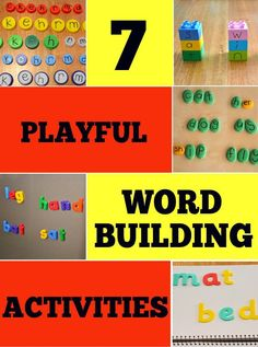 7 Playful Word Building Activities for pre- and early writers