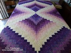 Dianne C by By Joy It's Quilted -Joy Friedberger, -love the colors and the goirgeous quilting!