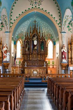 Saints Cyril & Methodius Catholic Church, Dubina, Texas  - I think churches are so beautiful - this one has the best colors....