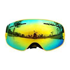 44ca0e8baa52 COPOZZ Children Frameless Ski Goggles Snow Snowboard Skate Snowboarding  polarized Glasses Detachable Wide Vision Double Anti-fog Spherical Lens  UV400 ...