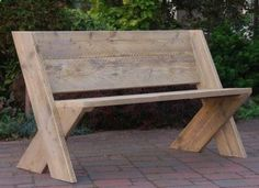Plans of Woodworking Diy Projects - Here are a couple of DIY benches that would provide casual and attractive seating indoors or outdoors. They would be easy to make, yet they ... Get A Lifetime Of Project Ideas & Inspiration!