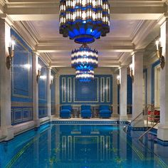 The essential Moroccan style indoor Blue pool