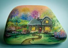 Oil painting on a stone by Yana Khachikian