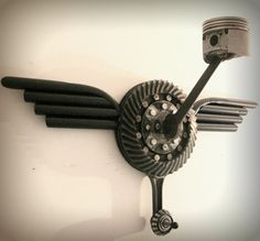 Custom made Helmet & Jacket hanger hot rod by KaiserEckhardtArt