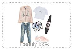 """""""Beauty look"""" by orossokhina on Polyvore featuring мода, MANGO, WithChic, adidas Originals и Maybelline"""