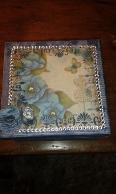 Caixa Flower azul