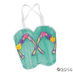 DIY Flip Flop Totes, DIY Crafts, Crafts for Kids, Craft & Hobby Supplies - Oriental Trading $9.38/12