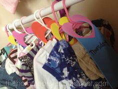 The Home Teacher: DIY Days of the Week Clothing Organizers