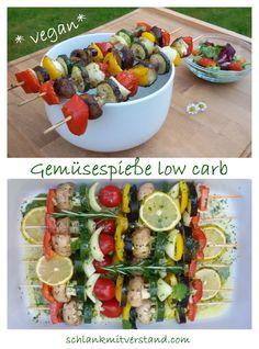 Grillzeit! Leckere Gemüsespieße selber machen #lowcarb #vegan #vegetarisch #abnehmen #Sommer #Grillen #Rezepte #Healthyfood #Food #Fitnessfood