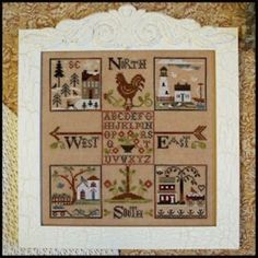 This cross stitch pattern is the second part of the Four Corners Sampler Series by Little House Needleworks. The price below includes the p...