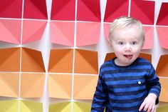 colorful paper photo booth backdrop | Julep tutorial, DIY. Via you are my fave.