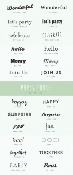Round up of lovely free fonts