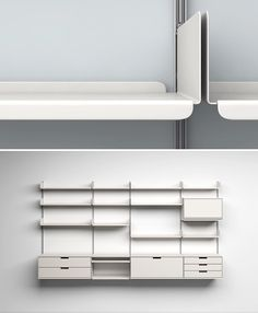 "606 universal shelving system  by dieter rams. rams' ten principles of ""good design"" - is innovative, makes a product useful, is aesthetic, makes a product understandable, is unobtrusive, is honest, is long-lasting, is thorough down to the last detail, is environmentally friendly, is as little design as possible."