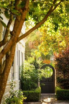 flowersgardenlove:  Walled garden door Beautiful