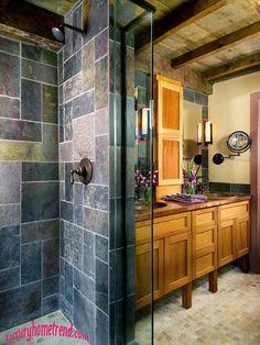 Natural Stone Bathroom-wow...love this bathroom