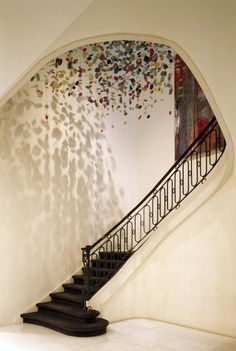 Beautiful classical staircase inside the VVD-residence. Redecoration by Vincent van Duysen.