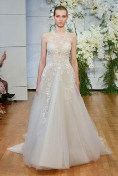 a7017d99813 Monique Lhuillier Bridal Spring 2018 Collection Photos - Vogue Popular Wedding  Dresses