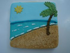 Well done beach cookie