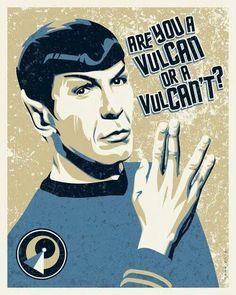 Vulcan or Vulcan't. Spock. Star Trek. Motivational.