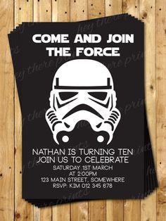 Storm Tropper Birthday Invitation  Star Wars  by HeyTherePrints, $13.00