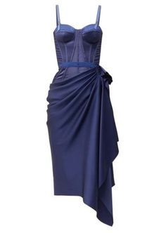 alexander mcqueen corset dress found using shop it to me Satin Dresses, Blue Dresses, Gowns, Corset Dresses, Little Dresses, Pretty Dresses, Kpop Outfits, Fashion Outfits, Grunge Outfits