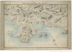 Plan des environs de Toulon