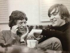 Mick Jagger and John Lennon, 1966