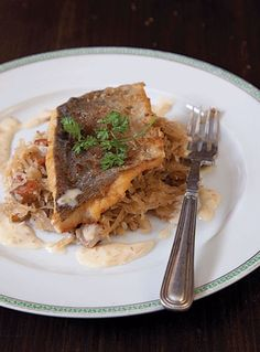 Sauerkraut with Fish in Cream Sauce | SAVEUR