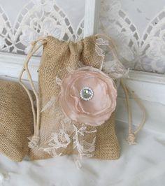 Wedding Burlap Favor Bag  Set of 6  by by BurlapandBlingStudio, $27.00