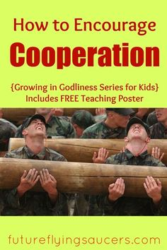 Use the story of Moses and the Amalekites to teach the importance of cooperation, another trait of godliness. {Growing in Godliness Series} ~ futureflyingsaucers.com