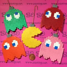 Zo Zo Tings - Pac-Man Christmas Pixel Baubles