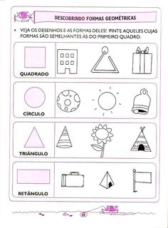 Find de samme former Preschool Printables, Preschool Math, 1st Grade Math Worksheets, Therapy Activities, Kindergarten Activities, Kids Education, Math Centers, Pre School, Homeschool