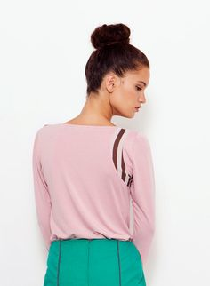 Pink Collared Shirt, Long sleeves Top, Casual Top, Collared Blouse, Women Shirt, Printed Collar on Etsy, $69.45
