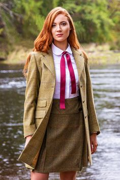 Brianna Coat (Glenelg Tweed) – Great Scot (Scotland) Ltd Countryside Fashion, Country Fashion, Country Outfits, Tweed Outfit, Scottish Fashion, Scottish Women, Preppy Style, My Style, How To Dress For A Wedding