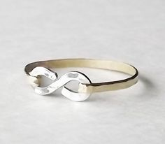 Stacking Rings  MIX Metal  Hammered Gold by BellatrinaJewelry