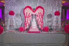 Dessert table at Victoria Secret PINK party in Houston by Occasio Productions. https://occasioproductions.wordpress.com/2014/09/25/pink-quinceanera/view-more-httpmichelleablephotography-pass-usdulce-50/#main