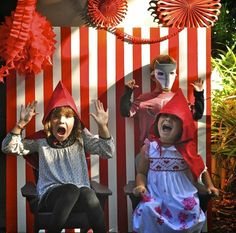 Photo Booth at a Little Red Riding Hood Birthday Party