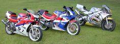 Honda CBR400RR, CBR250RR and NSR250.