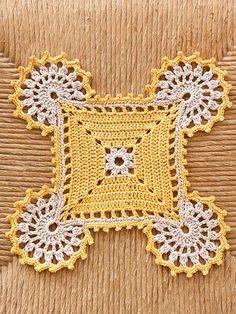 In just 4 hours, you can stitch a beautiful doily. These 4 designs are made using size 3 cotton thread so they work up quickly!                                                                                                                                                                                 More