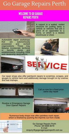 We offer Best Garage Repairs in Perth. To get services contact us at 100 Stirling Street, PERTH WA 6000  or  Call us at 894688079