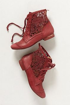 Irene Lace Booties #anthropologie