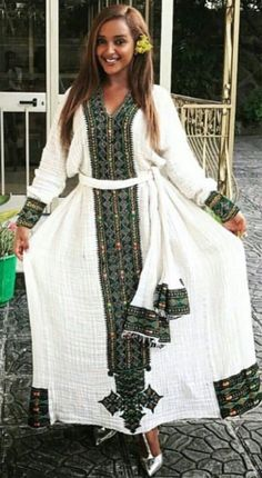 Do you need a professional tailor(s) to work with?Axumawit Ethiopian Traditional Dresses We deliver Traditional Dresses tailors across The world. African Attire, African Wear, African Women, African Dress, African Fashion, Beautiful Ethiopian Women, Ethiopian Beauty, Ethiopian Wedding Dress, Ethiopian Dress