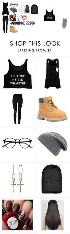 """""""jackson oppa style"""" by iona-teang on Polyvore featuring Solid & Striped, Timberland, BCBGMAXAZRIA, Lucky Brand, Rains and Yves Saint Laurent"""
