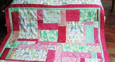 Geschenke für Frauen - Besonders aufwändige Patchworkdecke - ein Designerstück von meine-bunte-flickenecke bei DaWanda